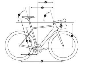 racefiets geometrie