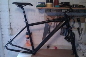 mountainbike in opbouw